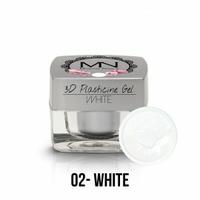 3D Plasticine Gel - 02 - White