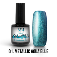 01 - Metallic Aqua Blue