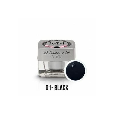 3D Plasticine Gel - 01 - Black