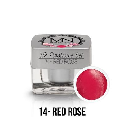 3D Plasticine Gel - 14 - Red Rose