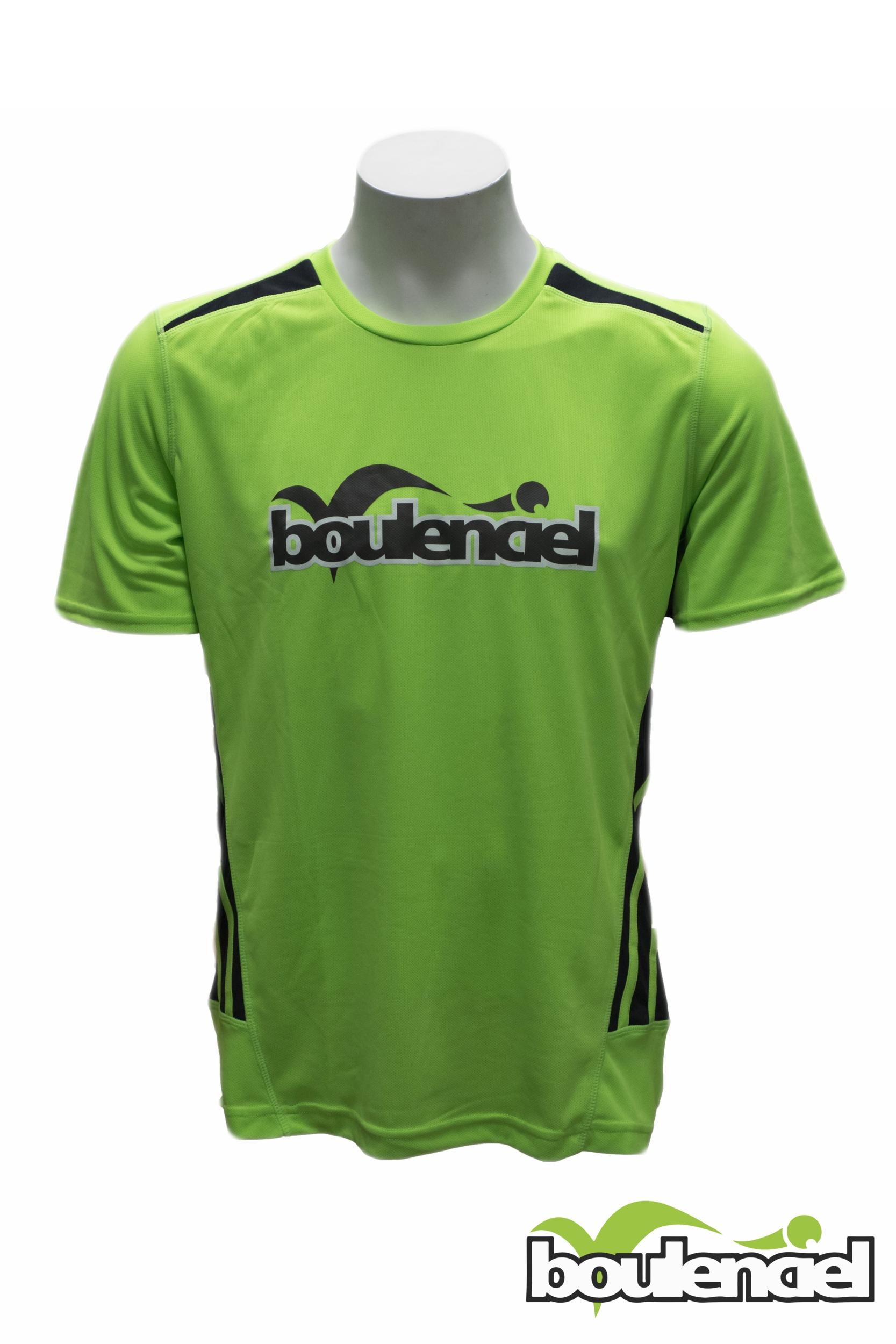 T-shirt microfibre unisex vert BOULENCIEL