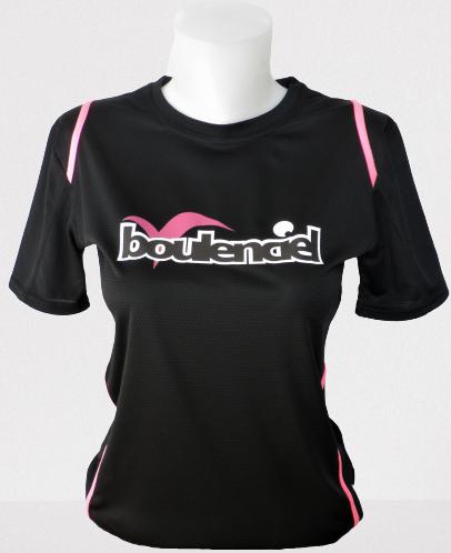 T-shirt microfibre pour femme noir/fushia BOULENCIEL