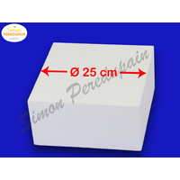Carré de polystyrène de 25 cm de coté