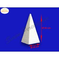 Pyramide de polystyrène de 50 cm de haut et de 22 cm de base