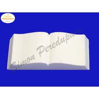 Livre en polystyrène 20 cm de long et 10 cm de large et hauteur 4 cm