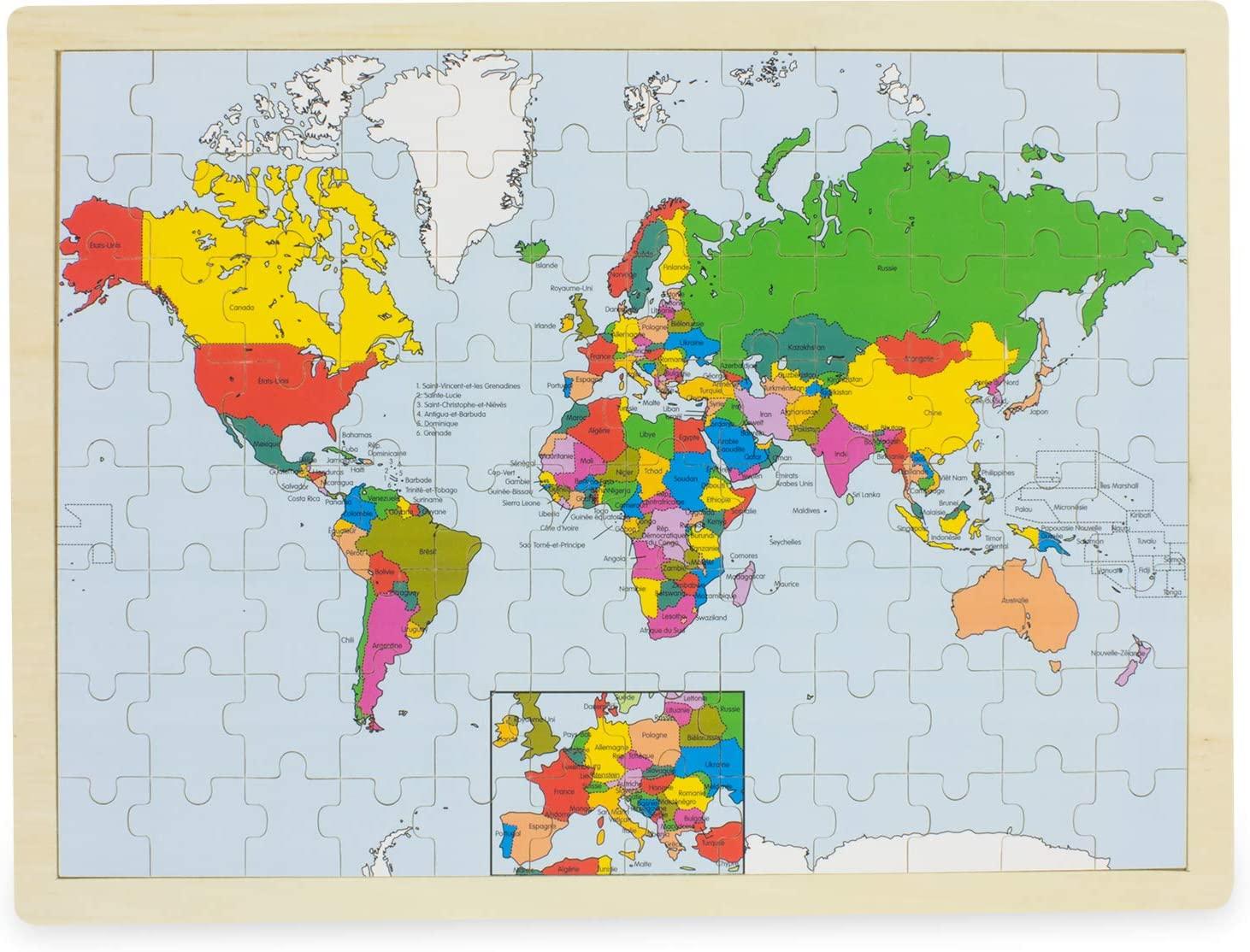 Puzzle Le monde ( 96 pcs)