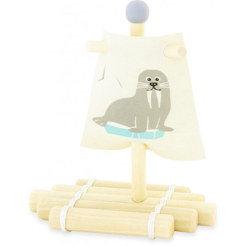 Voilier en bois : Radeau phoque
