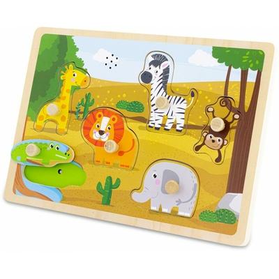 Puzzle sonore : safari (6 pcs )