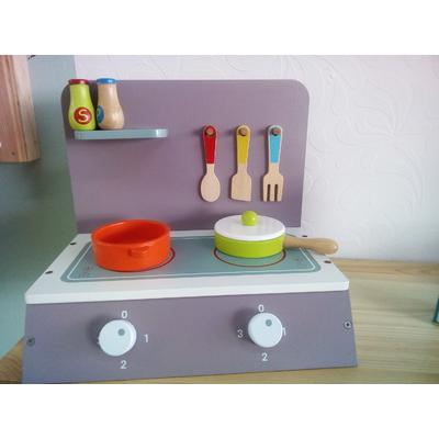 Table de cuisson en bois