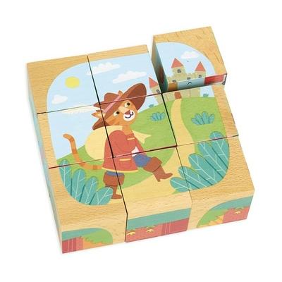Cubes en bois Les contes
