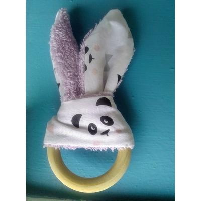 Anneau de dentition pandas mauve