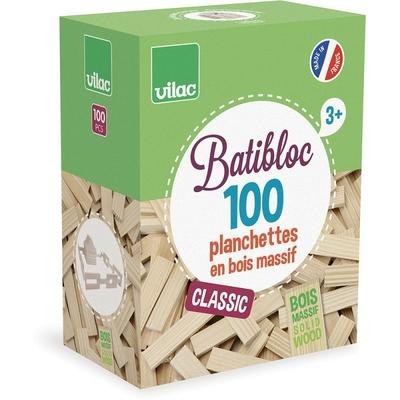 Batibloc classique 100 plachettes en bois massif Vilac