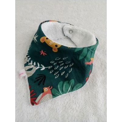 Bavoir bandana 0-6 mois Jungle