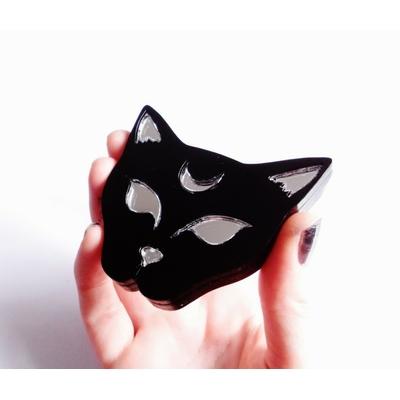 Moon Cat Compact Mirror