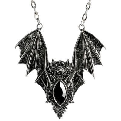 Bat Silver Necklace