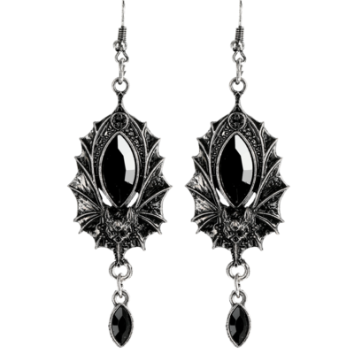 Bat Silver Earrings