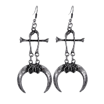 Claws and Bones Silver Earrings