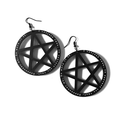 So Mote It Be Pentacle Earrings
