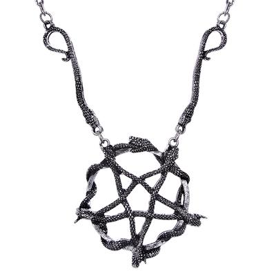 Snake Pentagram Necklace