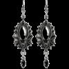 Bat earrings silver