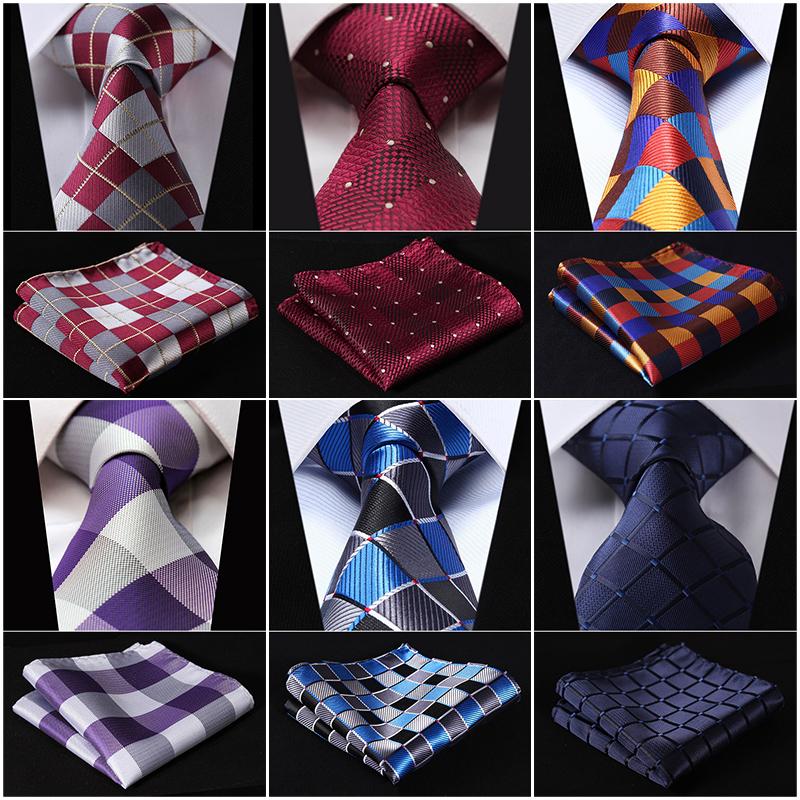 V-rifier-3-4-Soie-De-Mode-Mens-Extra-Long-Cravate-Cravate-Mouchoir-Set-Q5-Poche