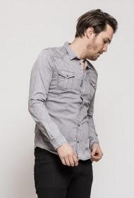 Chemise décontractée grise