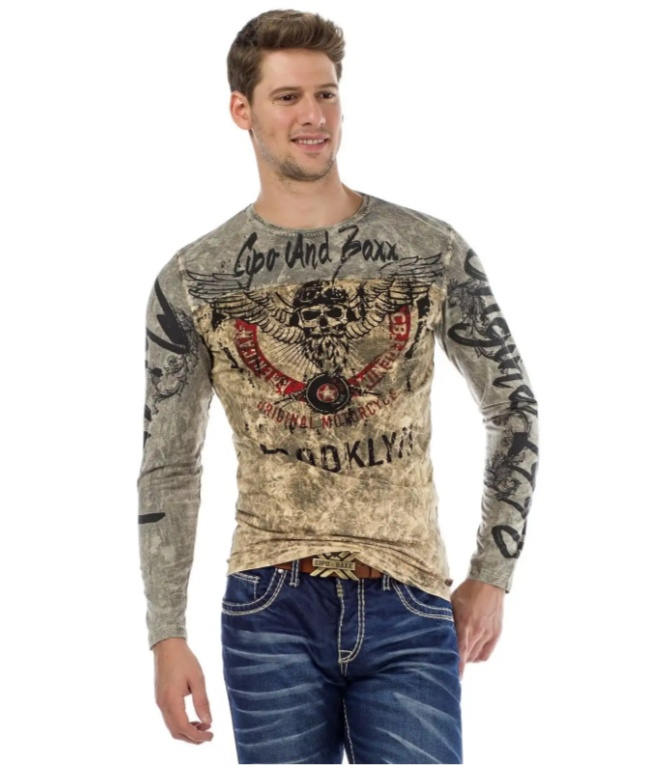 T-shirt manches longues motorcycle