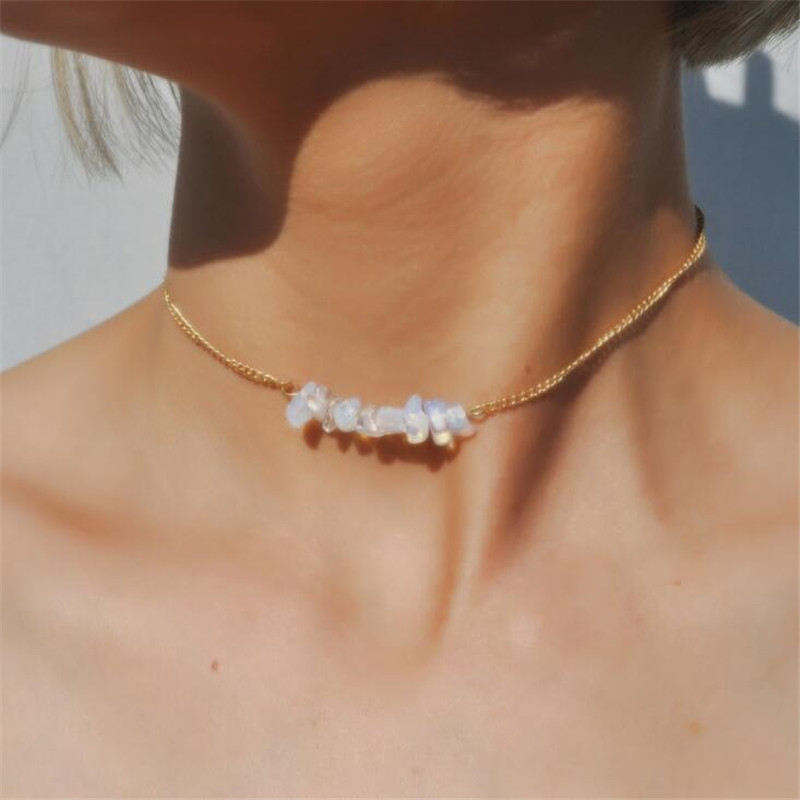to buy biggest discount save up to 80% Collier Chic Multicolore Opale Pierre Choker