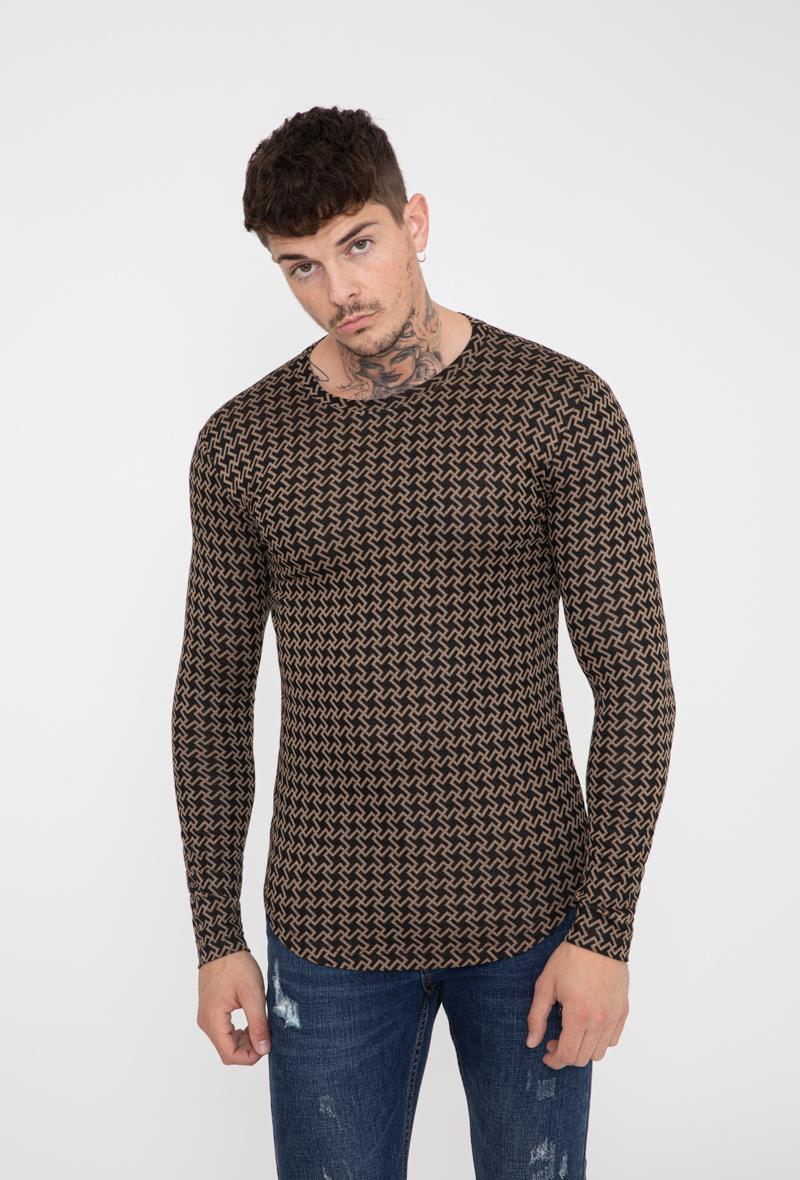 frilivin-t-shirt-manches-longues-motifs-pied-de-poule-dark_brown-3