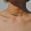 Chic-Multicolore-Opale-Pierre-Choker-Colliers-Mode-Couleur-Or-Cha-ne-Collier-En-Cristal-pour-Des
