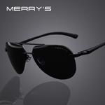MERRY-S-Marque-Hommes-100-Polaris-es-En-Aluminium-Alliage-Cadre-lunettes-de-Soleil-De-Mode