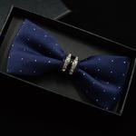 Smoking-M-tal-Cristal-De-Mariage-Bow-Tie-Hommes-Femmes-Papillon-Noeud-cravate-Noir-Violet-Bleu