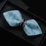 1-Pi-ce-Bling-Cristal-En-M-tal-D-coration-Forte-Coins-Arc-Cravate-de-Papillon