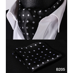 Partie-Classique-Poche-Carr-De-Mariage-Floral-et-Paisley-Plaid-Polka-Dot-Hommes-Soie-Cravate-Ascot