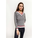 in-vogue-pull-avec-bandes-colorees-gray-1