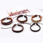 FUNIQUE-Multicouche-En-Cuir-Bracelet-Hommes-Bijoux-Vintage-Punk-Bracelet-Punk-Wrap-Bracelets-Pour-Femmes-Casual