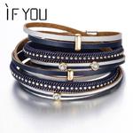 SI-VOUS-Mode-Noir-Cristal-En-Cuir-Bracelet-Multiples-Couches-Charmes-Bracelets-Pour-Femmes-Hommes-Bracelets