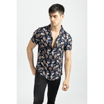 frilivin-chemise-manches-courtes-fleurie-navy-1