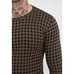 frilivin-t-shirt-manches-longues-motifs-pied-de-poule-dark_brown-2