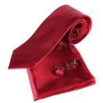 Nouveau-Mode-Gentleman-Solide-De-Mariage-D-affaires-Mouchoir-Bouton-De-Manchette-Cravate-Ensemble-corbatas-Cravate