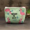 B-b-Douche-Doux-Flamingo-Cactus-Porte-Monnaie-F-te-D-anniversaire-Toile-Pi-ce-de