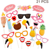FENGRISE-Hawaii-Flamingo-Lunettes-Beach-Party-D-coration-Hawa-enne-D-ananas-Artificielle-Feuilles-De-Palmier