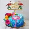 Hawaii-f-te-Luau-rose-flamant-rose-f-te-d-coration-papier-plaque-tasse-serviette-f