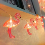 10-led-Flamingo-Cha-ne-Lumi-re-Pour-Flamingo-F-te-D-coration-D-coration-De