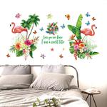 SK2024AB-Flamants-Roses-de-Bande-Dessin-e-Papier-Peint-Fond-D-coration-Supprime-TV-Canap-Salon