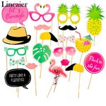 Lincaier-20-pcs-Photo-Booth-Props-Rose-Flamingo-D-coration-De-Mariage-Tropical-Bachelorette-Partie-de