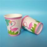 16-Pcs-Flamingo-Jetable-Gobelets-En-Papier-De-Vaisselle-Papier-Potable-Tasse-Vaisselle-Partie-Fournitures
