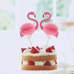 NOUVEAU-2-pcs-St-r-o-Flamingo-Fruit-Cure-Dents-Fleur-Connexion-D-coration-De-Mariage