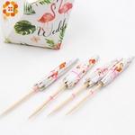 40-PCS-Flamingo-Papier-Parapluie-Boisson-Picks-G-teau-Topper-Choix-Cocktail-Parasols-Carton-Artisanat-Pour