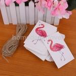En-gros-100-pcs-Flamingo-Oiseau-De-No-l-D-anniversaire-Papier-Cadeau-Tags-tiquettes-Suspendus